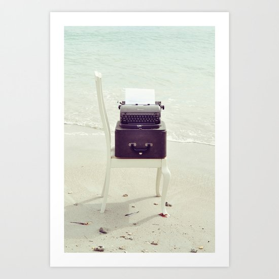 The Voice of the Sea. Art Print