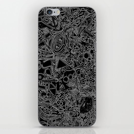 White/Black #1 iPhone & iPod Skin