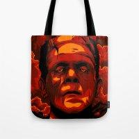 frankenstein Tote Bags featuring Frankenstein by Denis O'Sullivan