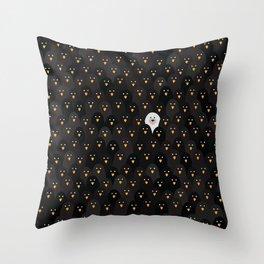 penguin huddle Throw Pillow