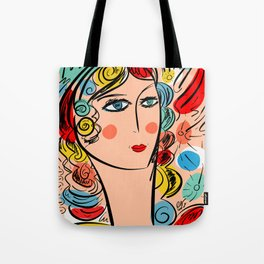 Nissa Girl Carnaval Portrait French Art Illustration Tote Bag