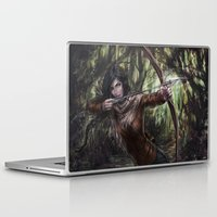 katniss Laptop & iPad Skins featuring Katniss by jasric