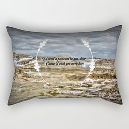 Oh darling, I wish you were here Rectangular Pillow