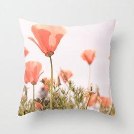 California Orange Poppy Throw Pillow
