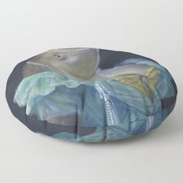 MADAME NARWHAL, by Frank-Joseph Floor Pillow