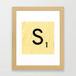 Scrabble S - Large Scrabble Tile Letter Framed Art Print
