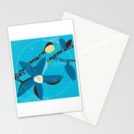 Blue Saucer Magnolia Stationery Cards