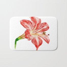 Red flower Bath Mat