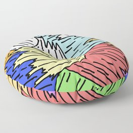 Color Shards Floor Pillow