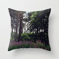 finland Throw Pillows featuring Porvoo- Finland by Cynthia del Rio
