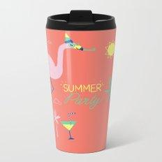 Corail Flamingo Metal Travel Mug