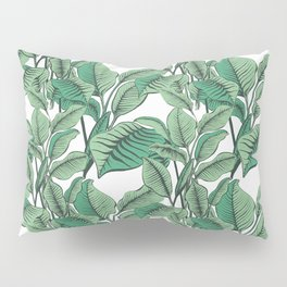 Exotic Tropical Banana Palm Leaf Print Pillow Sham