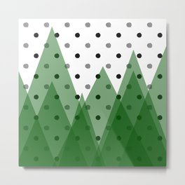 Christmas mountains Metal Print