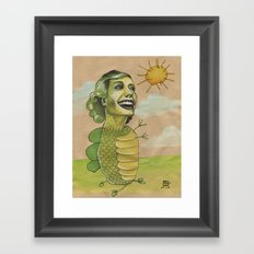SUNSHINE DINO Framed Art Print