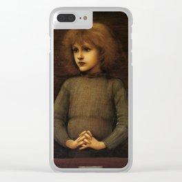 Edward Burne-Jones - Philip Comyns Carr Clear iPhone Case