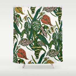 bugs & plants Shower Curtain