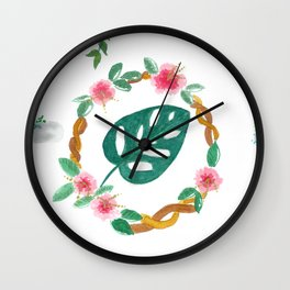 Garden on the wall Wall Clock