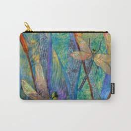 Colorful Dragonflies Carry-All Pouch