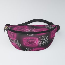 Neon Burgers in Pink Fanny Pack