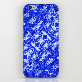 Blue and White Fluid Abstract 45 iPhone Skin