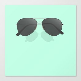 Aviator sunglasses Canvas Print