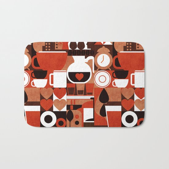 Coffee Story Bath Mat