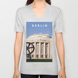 EAST BERLIN THEATRE - VOLKSBÜHNE Unisex V-Neck