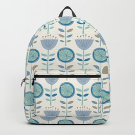 Mid-Century Modern Floral Backpack