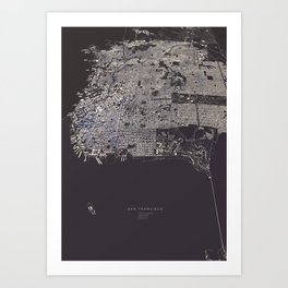 San Francisco City Map Art Print