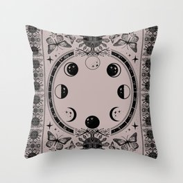Astrological Moon Phase Magical Witchy  Throw Pillow