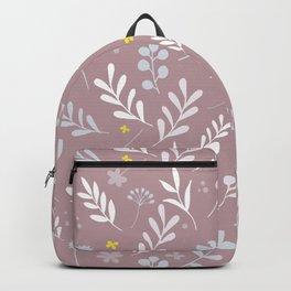 Floral Pattern 1 - PINK BACKGROUND Backpack
