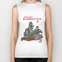 the breakfast club Biker Tanks featuring Brains for Breakfast Club (white) by Ayota Illustration