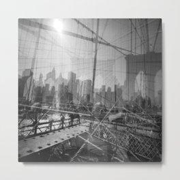 Brooklyn Bridge 3x Metal Print