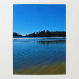Rippled beaches of the Pacific Ocean in Western Canada Poster