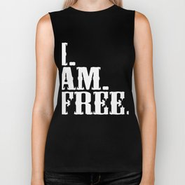 "Want to say Free Here's a special made t-shirt design for you! ""Free"" Freed Freely Alone Independent Biker Tank"