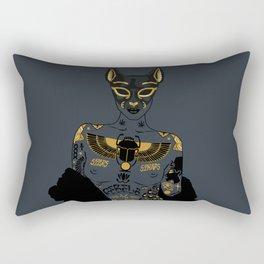Late Night Egyptian Tales Ep. 2: Bastet Rectangular Pillow