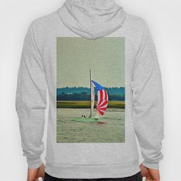 US Flag Sailboat Hoody
