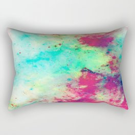 Join The Heavens - Abstract Space Painting Rectangular Pillow
