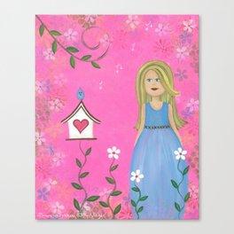 Tweet Moments - Cuckoo Bird House Kids Art Canvas Print