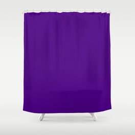 Solid Color Indigo Purple Shower Curtain