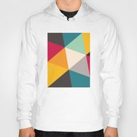 triangles Hoodies featuring Triangles by Gary Andrew Clarke