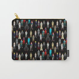 Heroes Scattered Pattern Black Carry-All Pouch