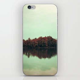 Sparkling red forest iPhone Skin