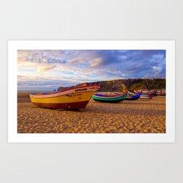 Nazare Fishing Boats Art Print