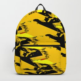 URBAN STREET CAMO YELLOW AND BLACK OLIVE GREEN DESIGN Backpack