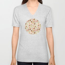 Quiet Walk In The Forest - A Soft And Lovely Pattern Unisex V-Neck