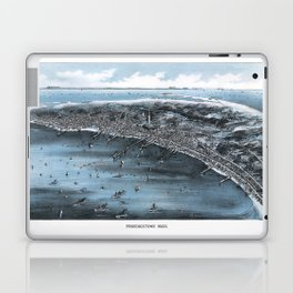 PROVINCETOWN MASSACHUSETTS city old map Father Day art print poster Laptop & iPad Skin