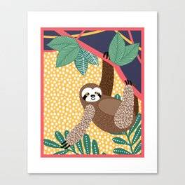 Sloth of the jungle Canvas Print