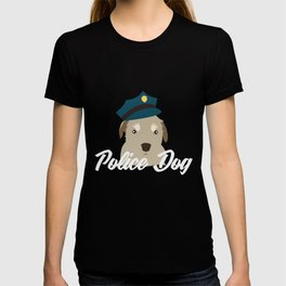 Police dog with cap | Police officer K9 cute T-shirt