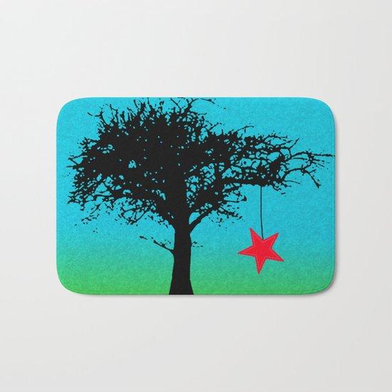 Star in the tree Bath Mat